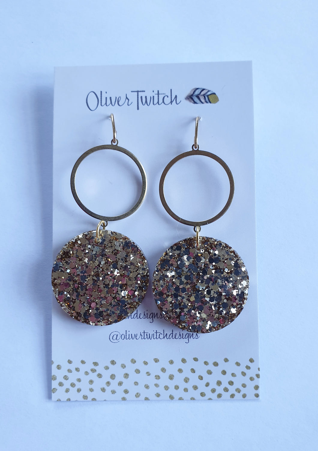 Glam Dangles - Light Gold