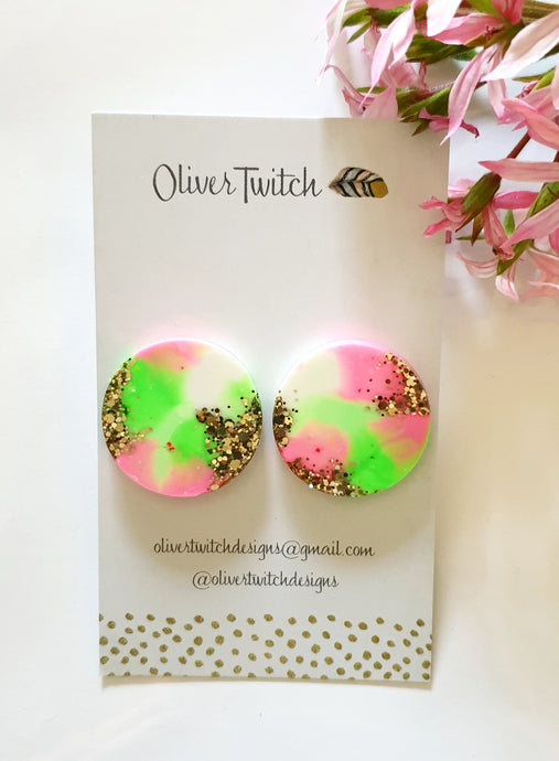 Maxi Studs - Strawberry Mint