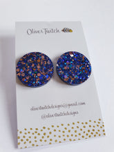 Load image into Gallery viewer, Maxi Studs - Navy Blue and Blush
