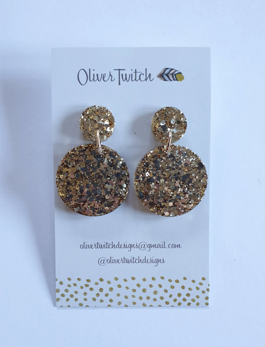 Resin Dangles - Gold