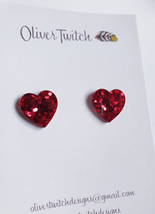 Amor Studs - Cherry Red