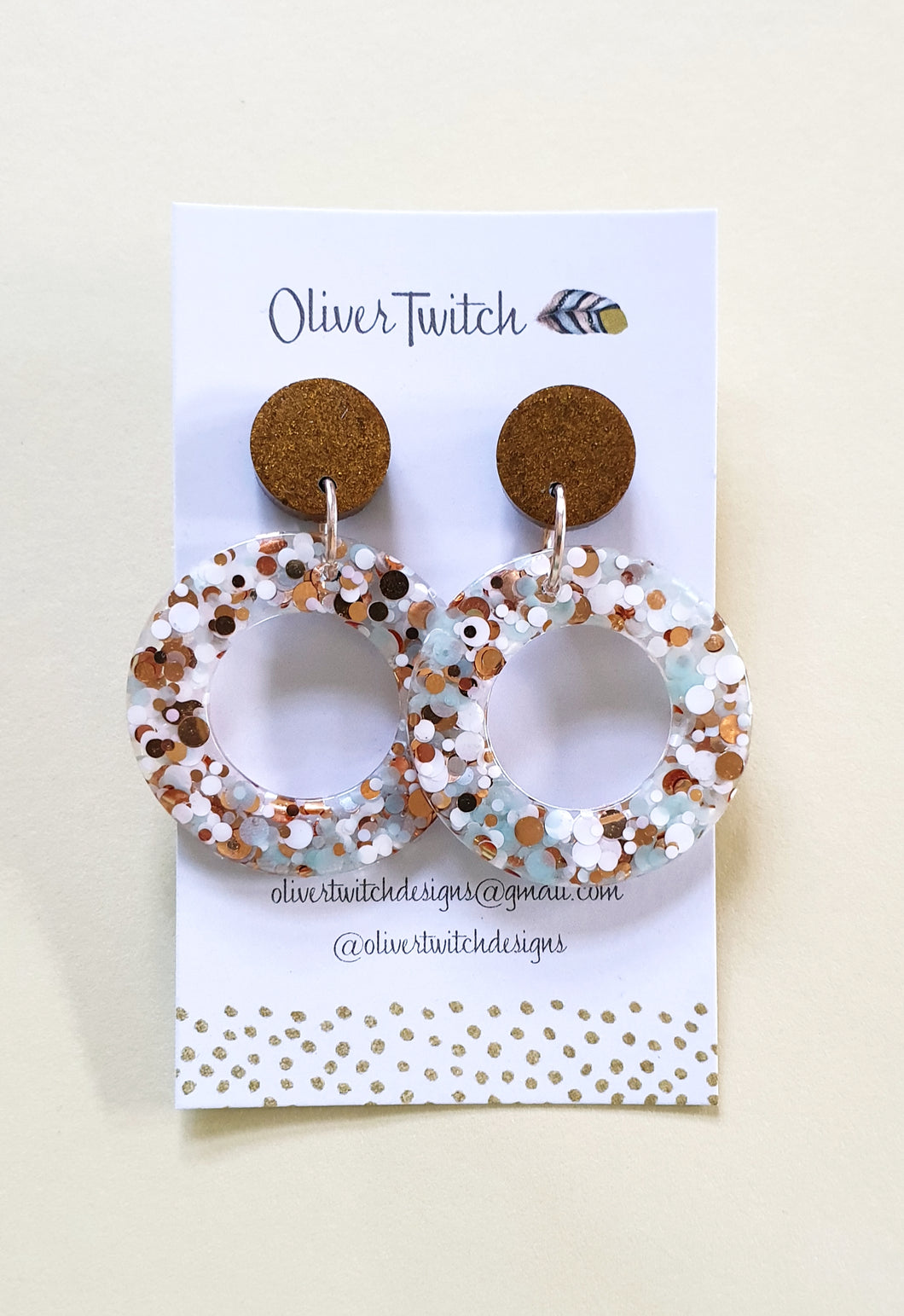 Orbit Studs - Beach Bronze