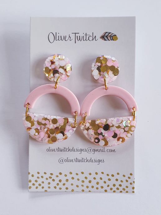 Like A Lady Dangles - Pink and Gold