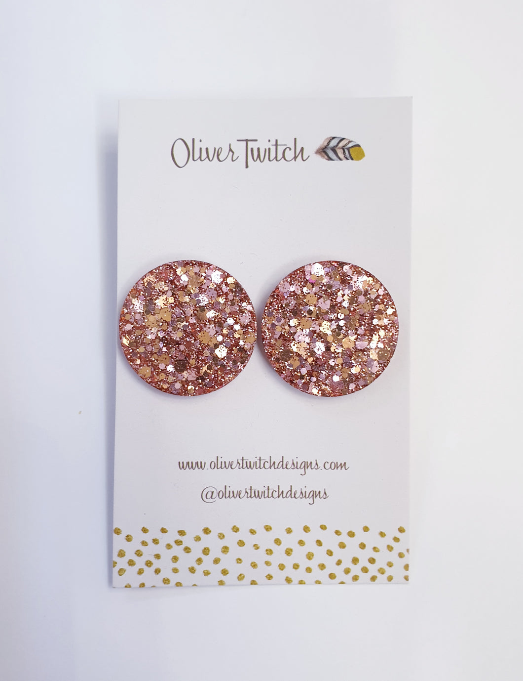 Maxi Studs - Blush Pink and Gold