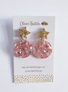 Ear Baubles - Blush and Gold
