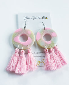 Cotton Candy Dangles