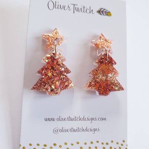 Christmas Trees - Rose Gold and Copper