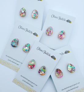 Kawaii Candy Egg Studs - Bright