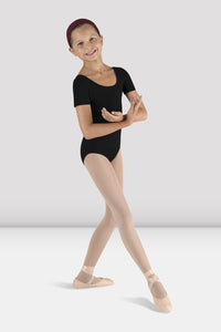 Short Sleeve Round Neck Leotard