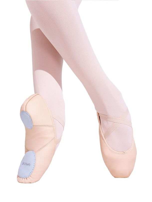 Juliet Leather Ballet Slippers - Pink