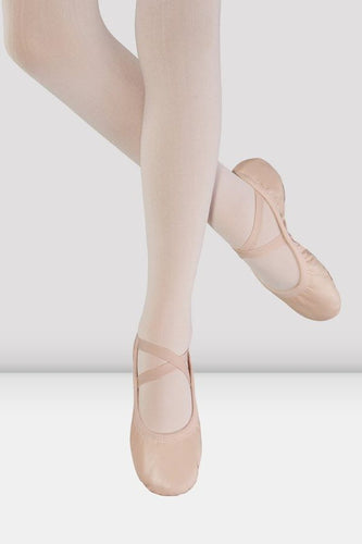 Odette Leather Ballet Slipper - Pink