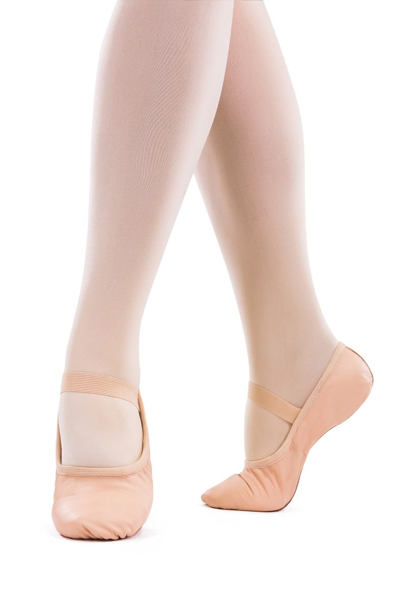 Premium Leather Full Sole Ballet Slippers - Pink