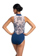 Load image into Gallery viewer, Zip Front Leotard with Paisley Print