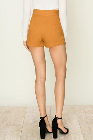 Camel color high waisted shorts