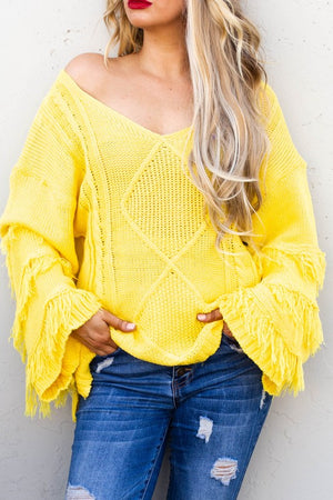 Fring sweater yellow