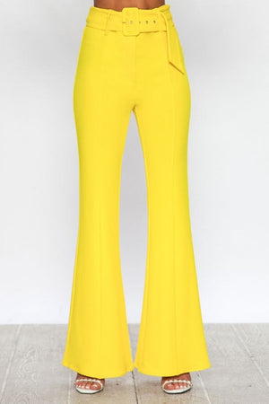 High rise yellow pants