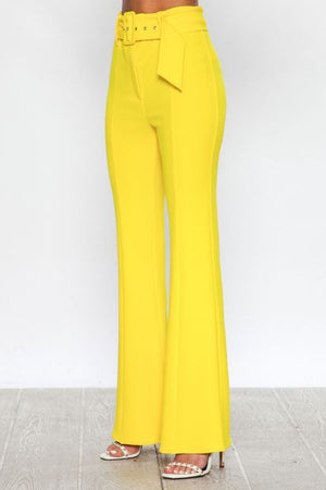 High waisted flare bottoms
