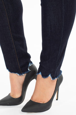 Curvy fit dark denim skinny jeans