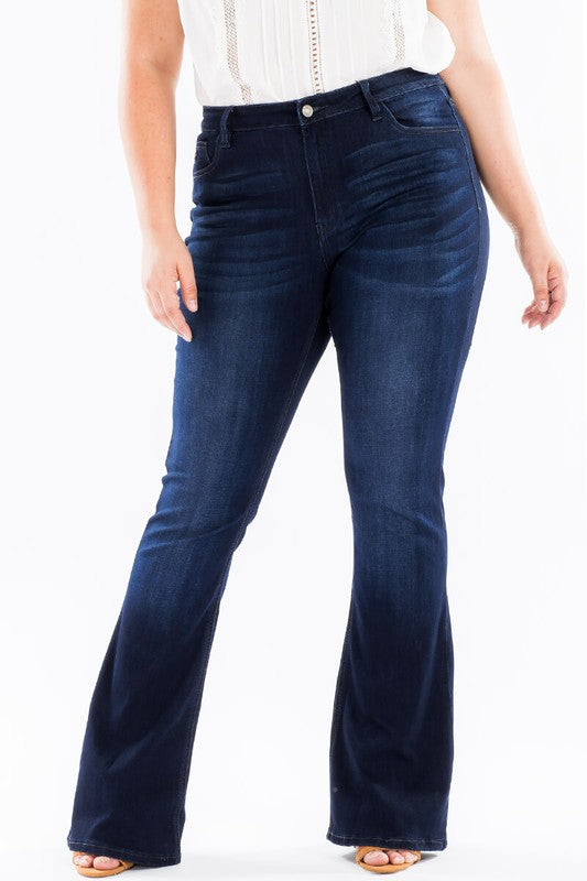 Curvy fit flare jeans