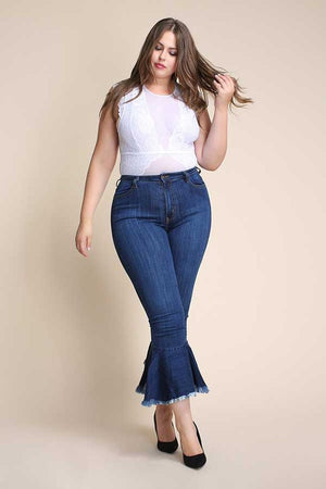 Topeka High Rise Flare Jeans Curvy