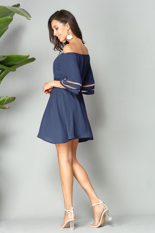 Navy blue mini dress
