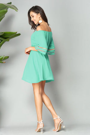 Mint green mini dress