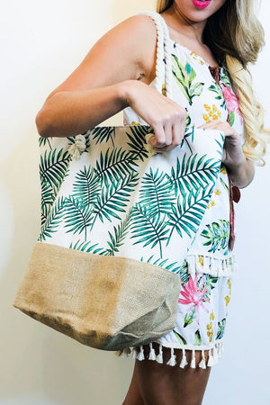 Canvas bag beach tote