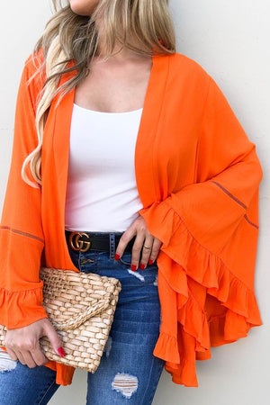 Wonens orange cardigan