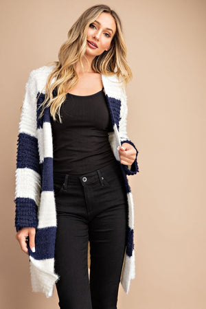 Super comfy striped cardigan