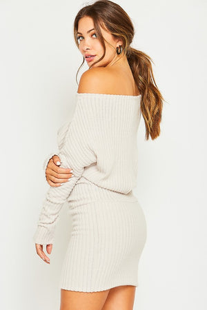 Sweater knit mini dress