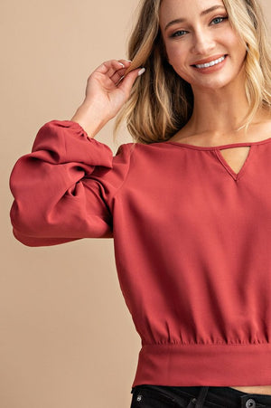 Terracotta blouse