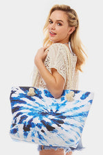 Tie dye beach bag