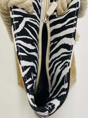 zebra print Beach bag