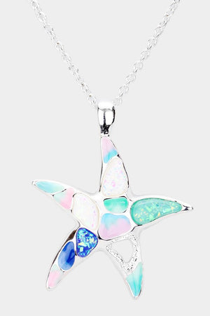 Seaglass starfish necklace