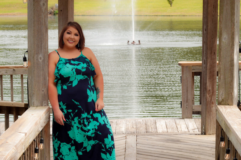 curvy vacation maxi dress