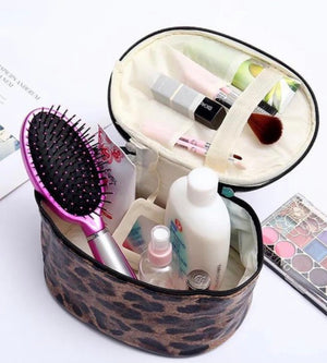 Leopard Print Cosmetic/Toiletry Bag