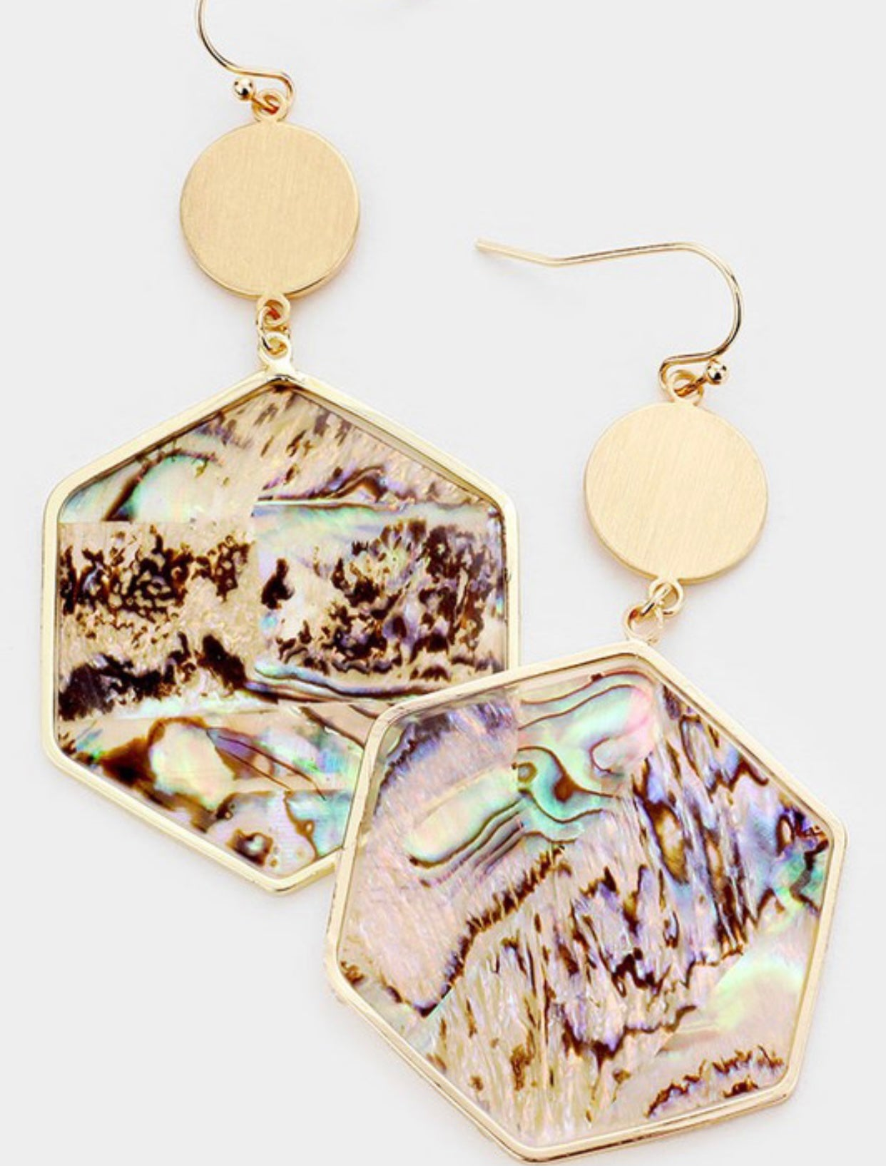 Pearl Shell Earrings Multicolor