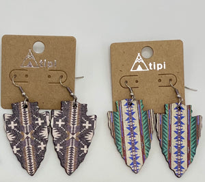 Wooden Arrow Earrings