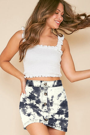 tie dye high waisted skirt