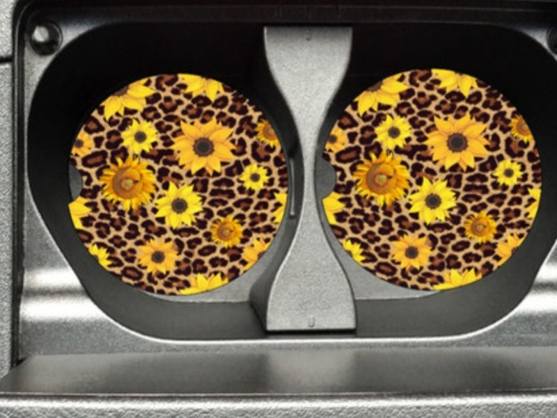 Cheetah car coasters