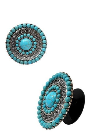 Turquoise cellphone grip