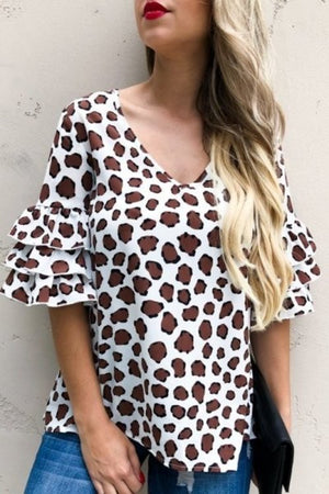 Giraffe pattern top