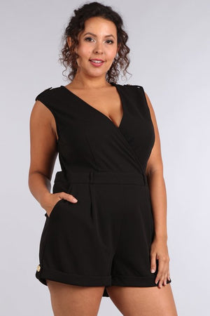 Black romper curvy fit