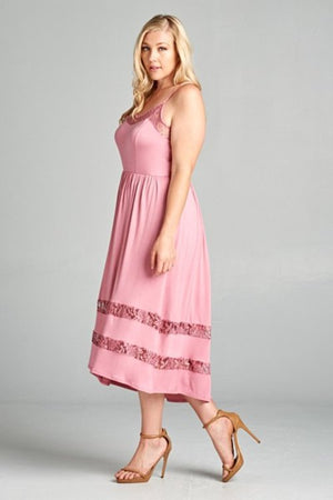Pink curvy fit dress