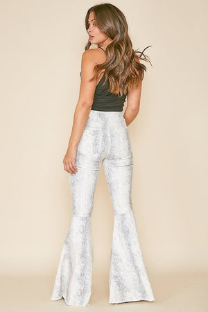 snake denim bell bottoms