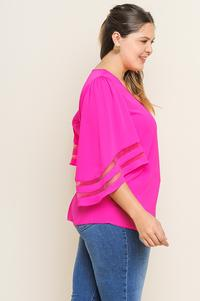 Plus size hot pink blouse