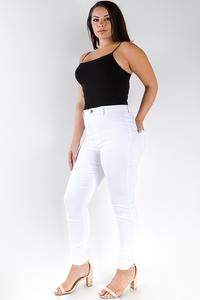 White skinny jean curvy fit