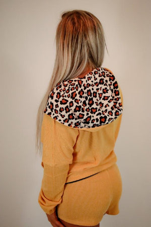 Leopard jacket set