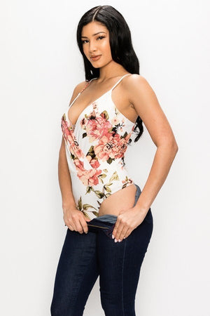 Bodysuit with flowers