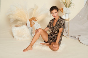 Animal print pajama set
